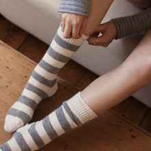 Load image into Gallery viewer, TOM LANE ALPACA GREY STRIPED SOCKS