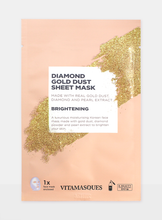 Load image into Gallery viewer, VITAMASQUES DIAMOND GOLD SHEET MASK