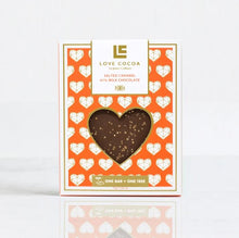 Load image into Gallery viewer, LOVE COCOA SALTED CARAMEL MILK CHOCOLATE BAR