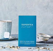 Load image into Gallery viewer, SUPERTEA ORGANIC COCONUT GREEN TEA