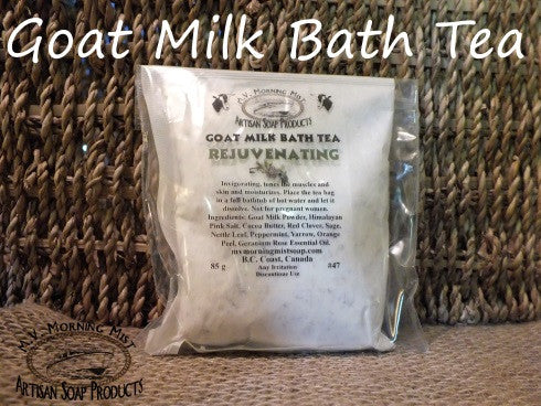 Goat milk bath tea handmade