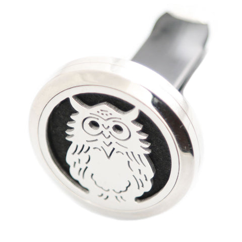 car diffuser-Owl-stainless steel locket