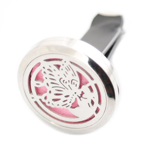 Aromatherapy butterfly stainless steel car diffuser