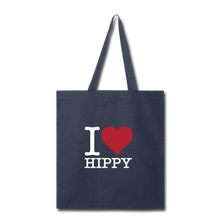 Load image into Gallery viewer, I Love HIPPY Tote - navy