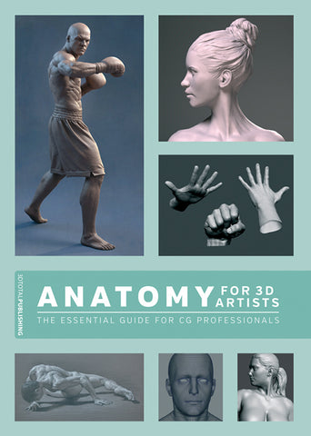 """Book cover of """"Anatomy for 3D Artists"""""""