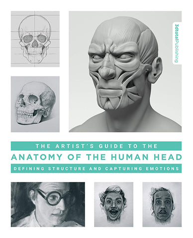 """Book cover of """"The Artist's Guide to the Anatomy of the Human Head"""""""