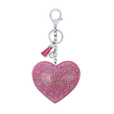 porte clé love strass