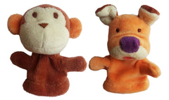 Finger Puppet Set - Monkey & Dog