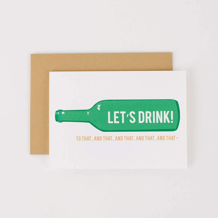 Let's Drink To That Card
