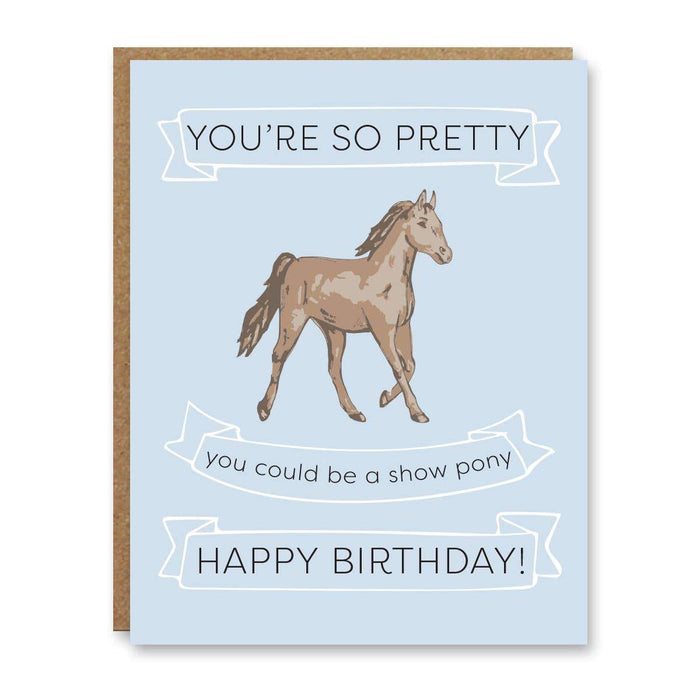 Show Pony Birthday Card