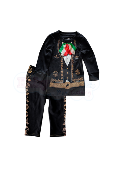 Conjunto ML Kids Niño 2 Pzas. Mariachi Real Tricolor