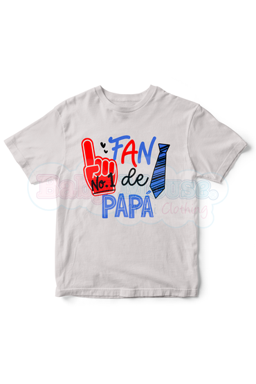Playera Kids. Fan #1 de papá (PREVENTA)
