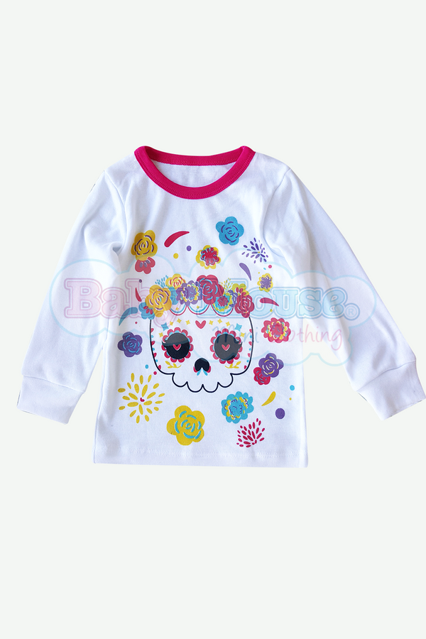 Playera Kids Manga Larga Niña. Catrina