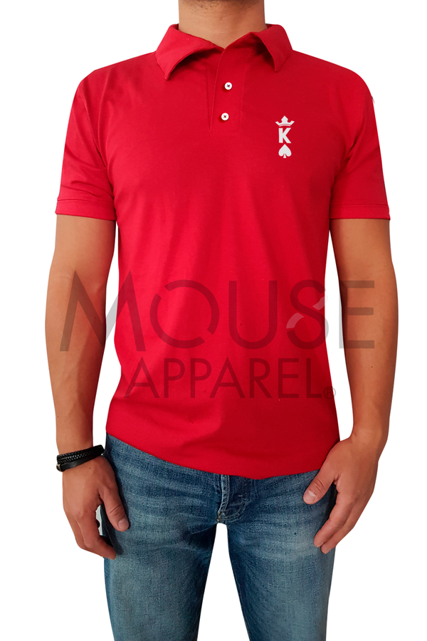 Playera Caballero Tipo polo. King