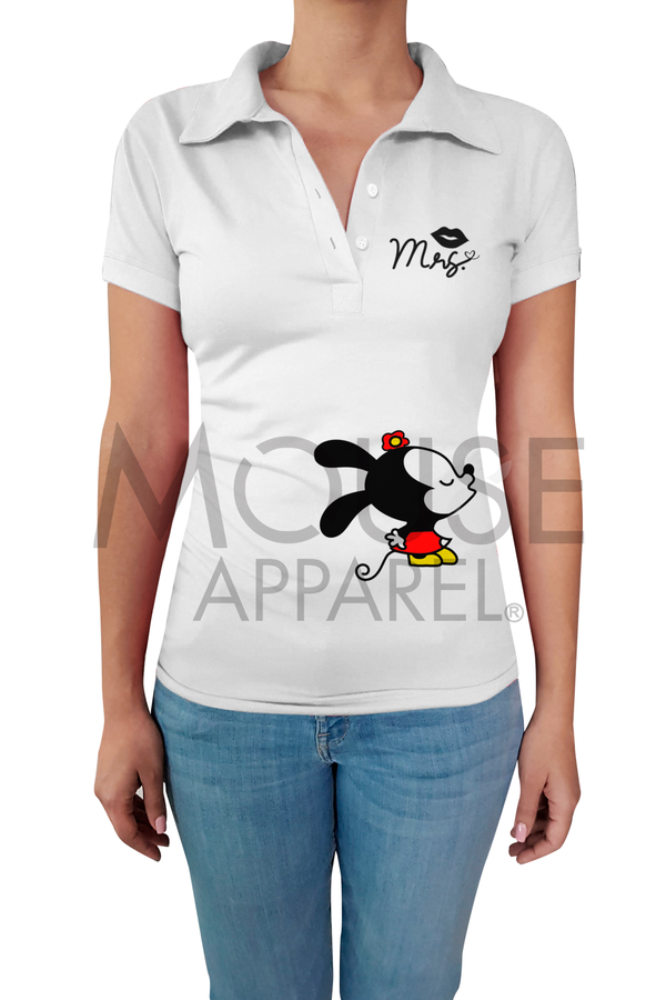 Playera Dama tipo polo . Mrs. Mouse