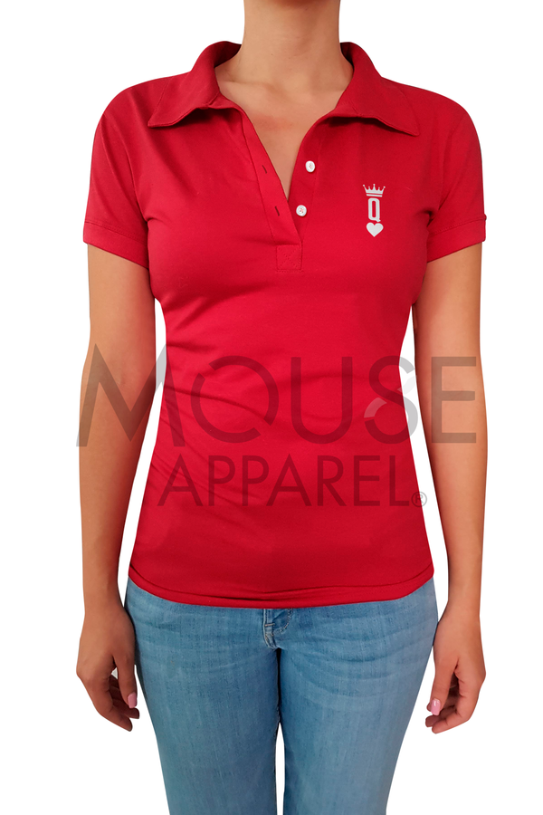 Playera Dama tipo polo . Queen