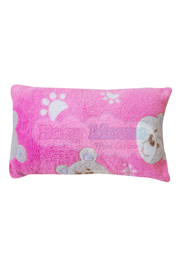 Almohada indeformable polar. Oso rosa