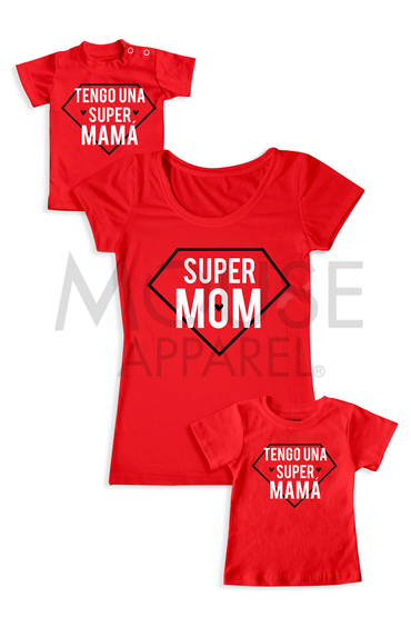 Set Mamá e Hij@. Super Mom