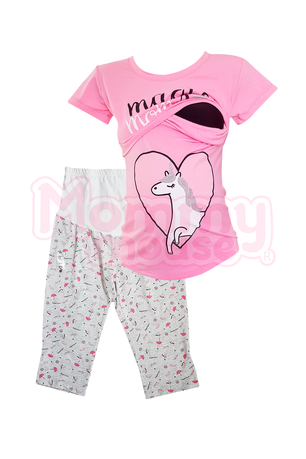 Pijama maternidad-lactancia Capri. Magic Mom