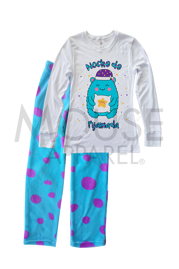 Pijama Polar Dama. Monster Mom