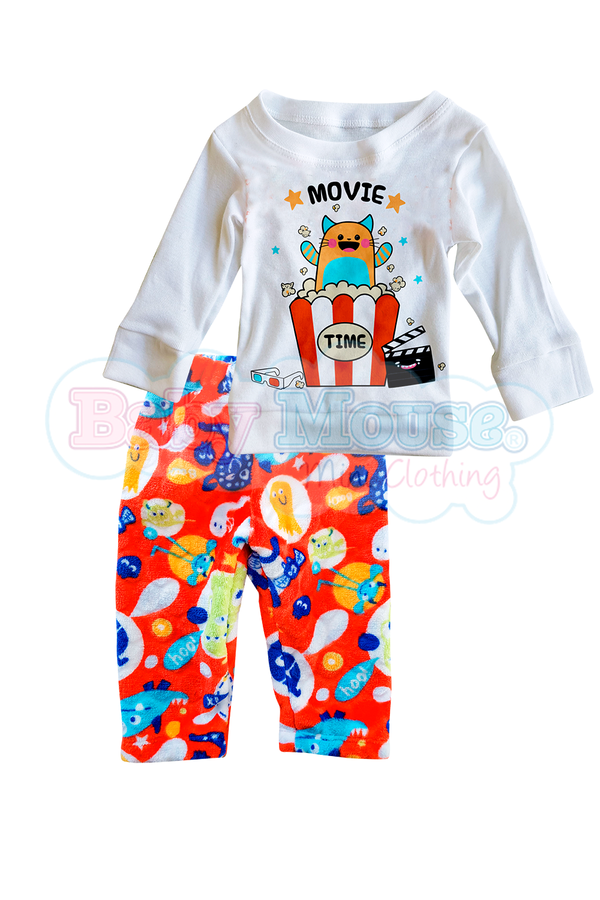 Pijama polar 3 y 4 Años. Movie time marcianos