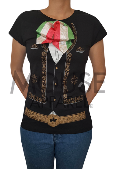 Playera Dama. Mariachi real Tricolor