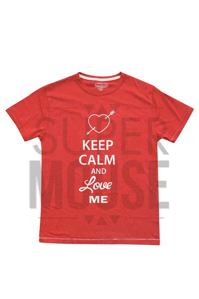 Playera caballero. Keep calm and love me