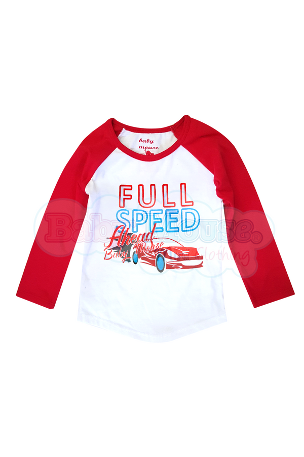 Playera Ranglan Kids. Full Speed.