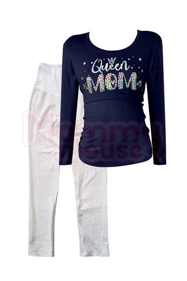 Pijama maternidad-lactancia ml. Queen Mom