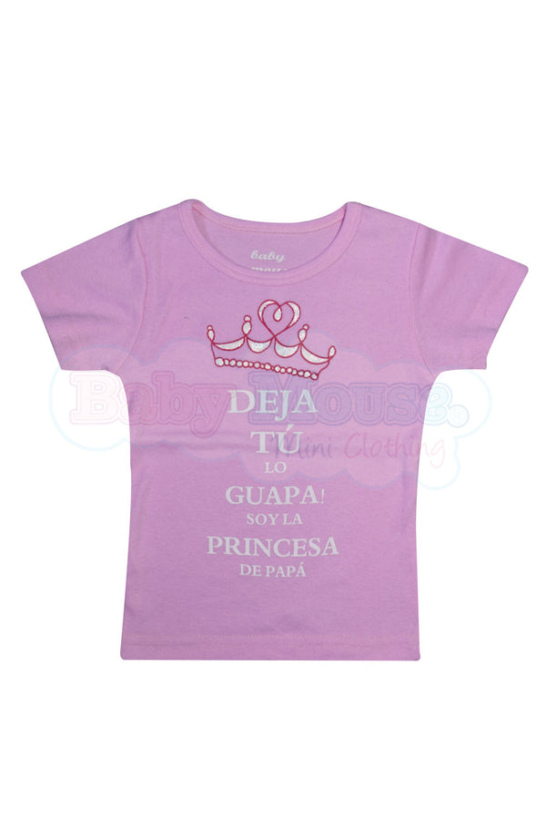 Playera Kids. Princesa de papá