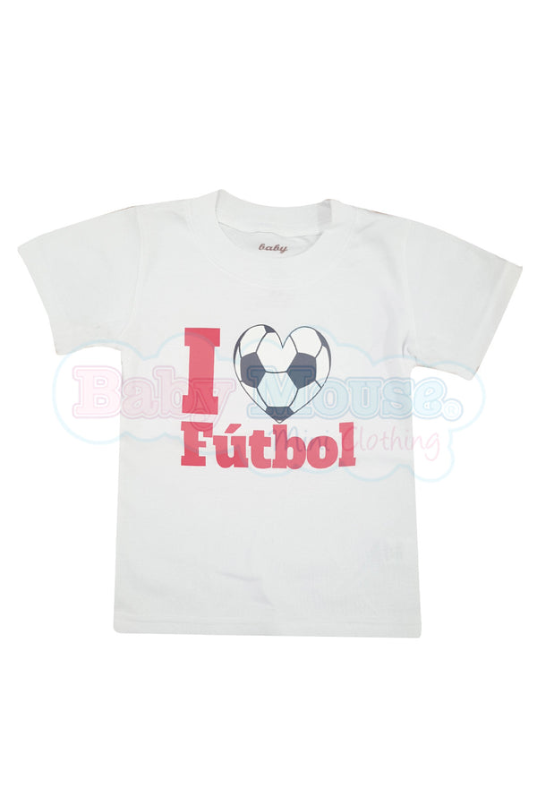Playera Kids . I love fútbol