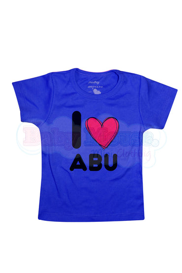Playera Kids. I love abu