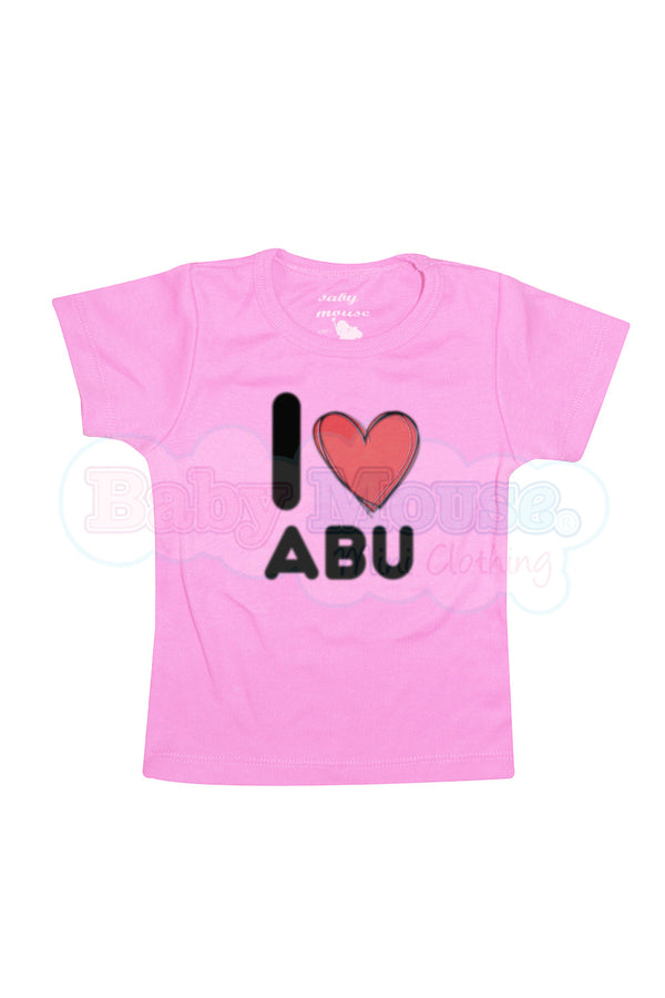 Playera Kids Niña.  I love abu