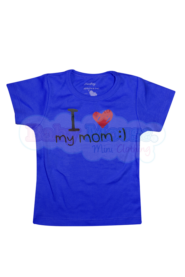 Playera kids. I love my mom :) niño