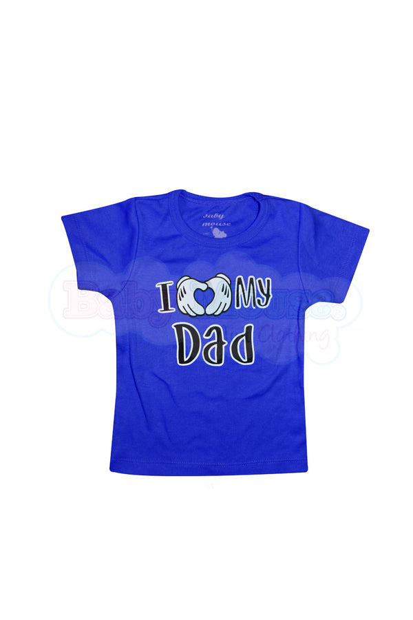 Playera kids. Love Dad Mouse niño