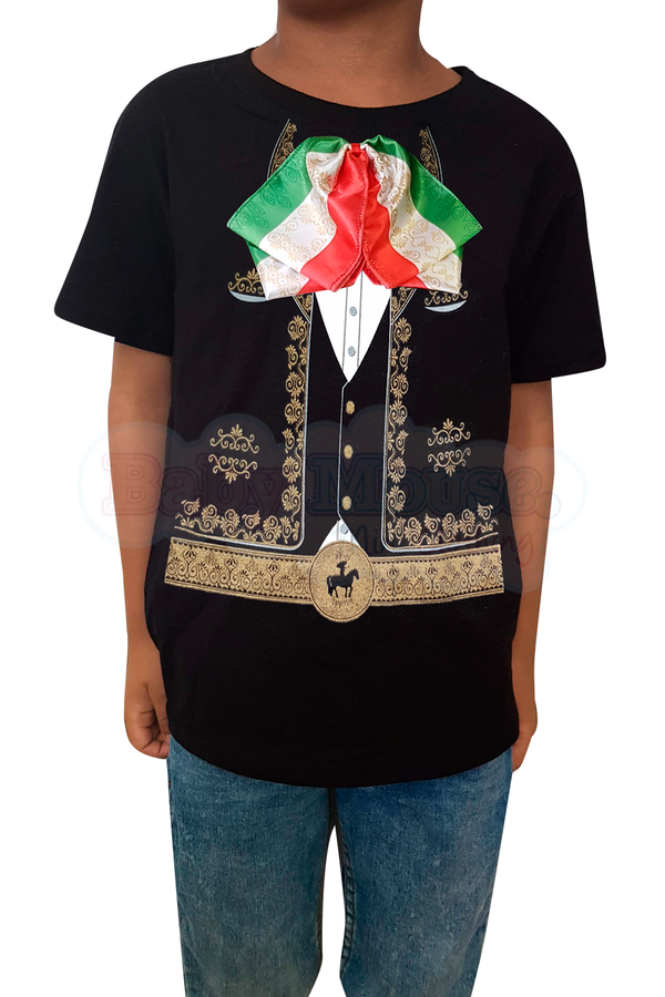 Playera Kids Unisex. Mariachi Real Tricolor