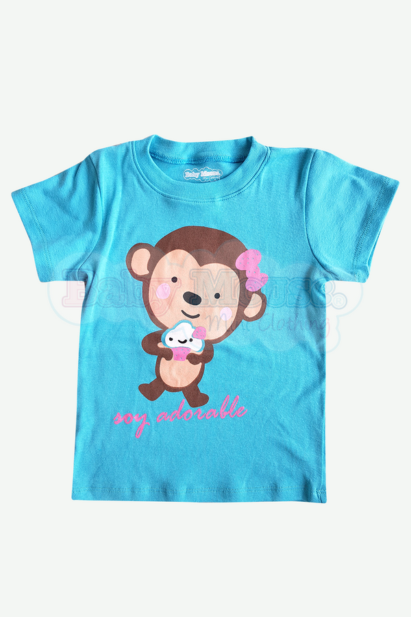Playera Kids . Adorable Aqua