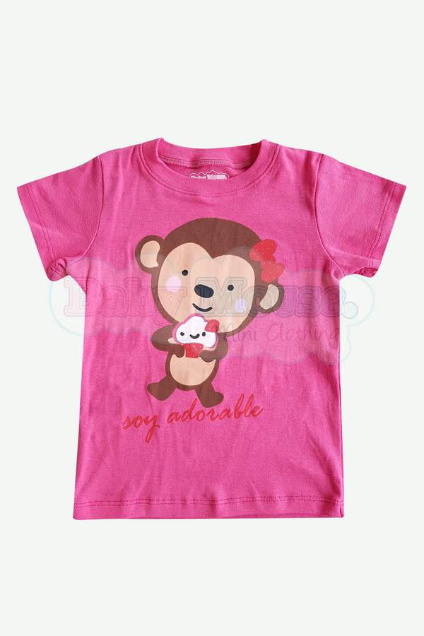 Playera Kids . Adorable Rosa