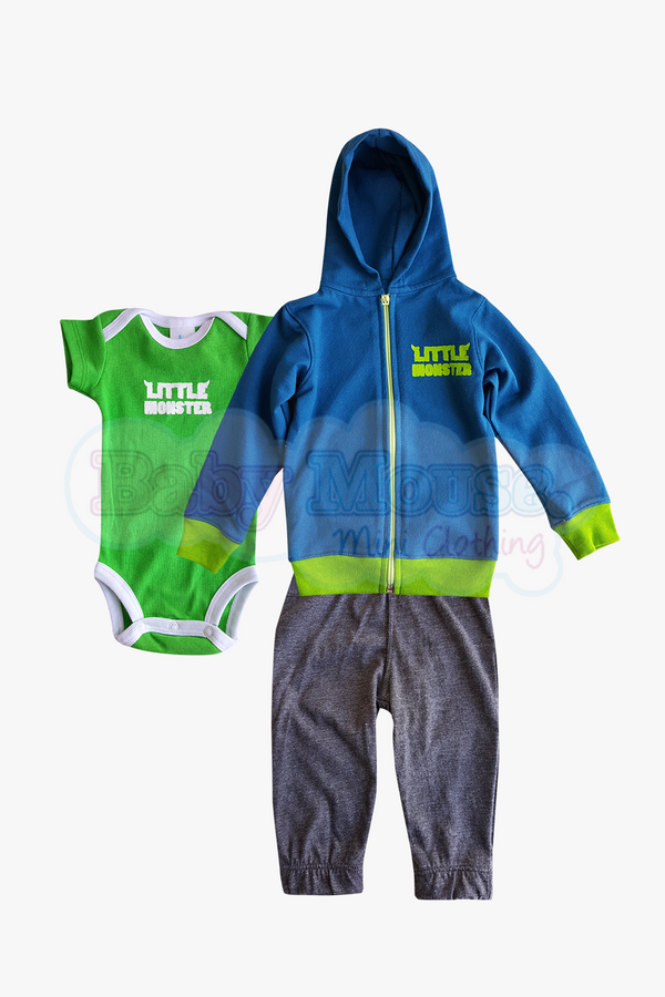 Set 3 pzas. Sudadera Little Monster