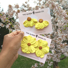 Load image into Gallery viewer, Bossy Blossom Earrings - Sunshine