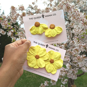 Bossy Blossom Earrings - Sunshine