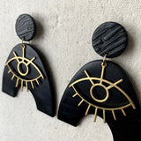Lila's Eyes Drop Earrings