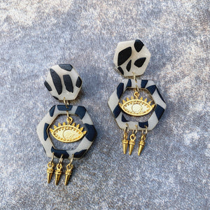 Nile Spiked Drop Earrings