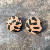 Cairo Stud Earrings in Caramel