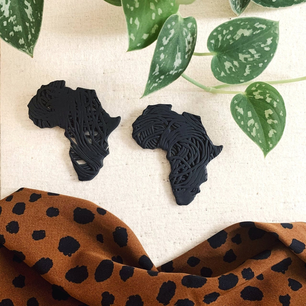 Awali Africa Earrings - Black