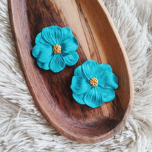 Load image into Gallery viewer, Bossy Blossom Earrings - Lagoon