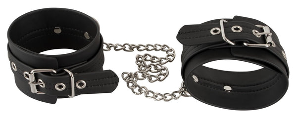 Close picture of ankle cuffs