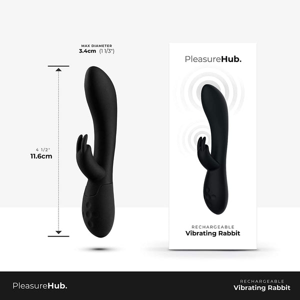 PleasureHub VIBRATING RABBIT (Black)