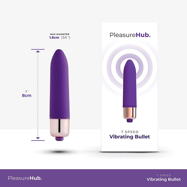 PleasureHub VIBRATING BULLET 7 SPEED (Purple)