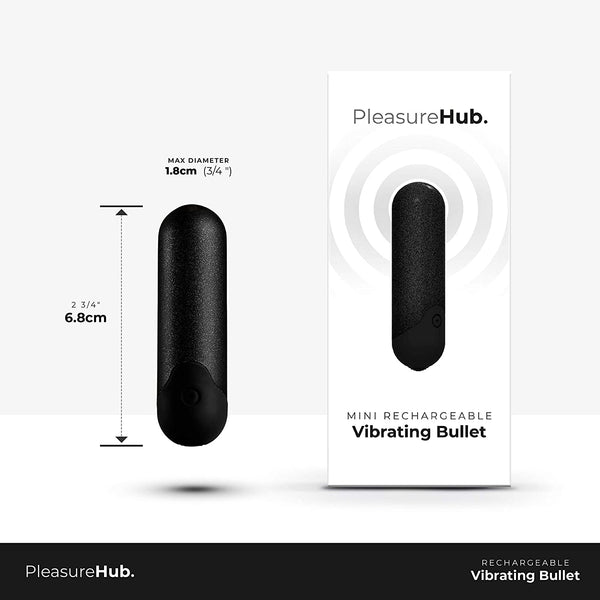 PleasureHub MINI RECHARGEABLE VIBRATING BULLET (Shimmer Black)